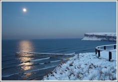 Gorgeous Saltburn in the snow, North Yorkshire, England. Kes' mom and dad live here.