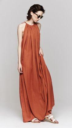 Heidi Merrick Grecian Dress in Sienna features a dark orange long shirt dress with top tie strap Dress Skirt, Dress Up, Grecian Dress, Mode Boho, Long Shirt Dress, Look Fashion, Fashion Design, Mode Outfits, Mode Inspiration