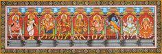 The Ten Mahavidyas - Water Color Painting on Patti - Folk Art From The Temple Town Puri (Orissa) Durga Ji, Durga Goddess, Traditional Paintings, Traditional Art, Indian Folk Art, The Nines, Cosmos, Mythology, Paint Colors