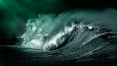 Alone in the storm while a starless night sky turns a deaf ear to the chaos as the mournful wind howls and the ocean. No Wave, The Ocean, Waves Photography, Stunning Photography, Stormy Sea, Beautiful Ocean, Beautiful Places, Blog Design, Ocean Waves