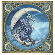 Dragon Moon Card by Lisa Parker