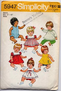 Vintage 1970s Small Baby Doll Clothes Wardrobe by allsfairyvintage, $4.00