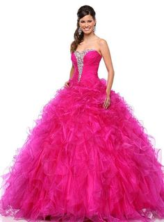Cheap gown beaded, Buy Quality dress wedding gown directly from China dress up celebrities fashion Suppliers: Quinceanera Dresses 2016 Long Ball Gown Ruffles Long Sweet 16 Dresses Debutante Gown vestidos de 15 anos Cheap Quinceanera Gown Cheap Blue Dresses, Sweet 15 Dresses, Pink Prom Dresses, Homecoming Dresses, Princess Dresses, Dress Prom, Wedding Dresses, Party Dress, Ball Gowns Prom