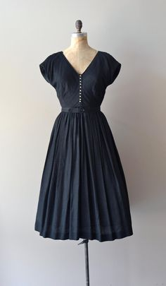 1950s dress / black 50s dress / Morceaux Moderato dress. $185.00, via Etsy.