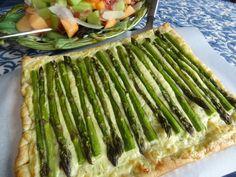 Asparagus Tart - Pastel de Aspargo Recipe from Tia Maria's Blog