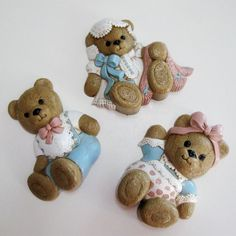 Vintage Teddy Bear Wall Hanging Plaques Baby by CinfulOldies, $12.00