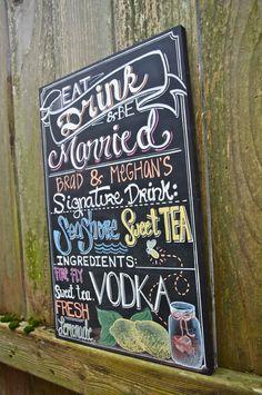 Custom Chalkboard  Drink menu by GenuinelyGinger on Etsy, $60.00