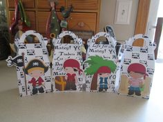 Little Pirates Gable Favor Boxes Set of 12 by zbrown5 on Etsy, $14.40