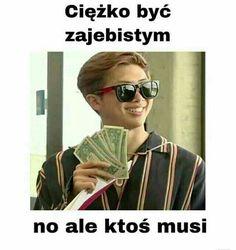 Asian Meme, Polish Memes, Weekend Humor, Funny Mems, Good Jokes, I Love Bts, Rap Monster, Mood Pics, Wtf Funny
