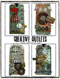Tim Holtz always inspires me with his tags.