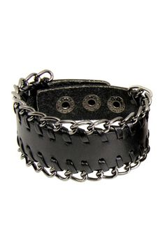 Leather Chain Bracelet by Jewelry by Saachi on @HauteLook