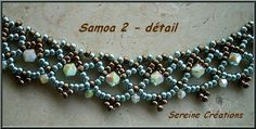 Collier Samoa toupies by Sereine