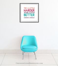 Try A Little Harder To Be A Little Better  by CheyenneLyonsDesign, $17.00