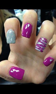Image viaZebra nails designs one nailImage viaTeal and black zebra.Image viaStep By Step Nail Art Tutorials For Beginners Zebra Nails ArtImage viaAcrylic nail desig Cute Nail Art Designs, Zebra Nail Designs, Zebra Nail Art, Nails Design, Fingernail Designs, Zebra Print Nails, Fancy Nails, Diy Nails, Cute Nails