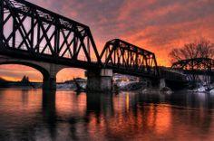 Lehigh River Bridge, Bethlehem, Pa   January 2013