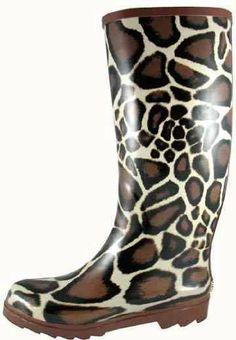 Smoky Mountain 6722 Women's Giraffe Rubber Boot