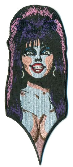 Elvira MIstress of the Dark PATCH iron-on / Velcro Macabre Mobile TV Horror Host 80s 1980s Cheesy B-Movie Pin-up Burlesque Punk Goth GOthic (11.95 USD) by PsychoSwami