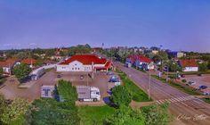 Látkép a katolikus templom tornyából Kisújszállás, 5310 Magyarország