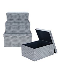 Take a look at this Marise Nesting Covered Storage Box Set by Laura Ashley Home on #zulily today!