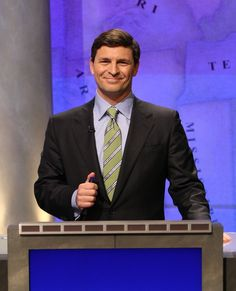 Answer: CNBC's David Faber is on Jeopardy. Question: What's on TV tonight, Alex?