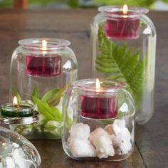 Classic shape gives this blown glass trio a retro look. Fill with what you love then top with votive or tealight candles. PartyLite Summer 2017 Clearly Creative™ Classic Votive Trio