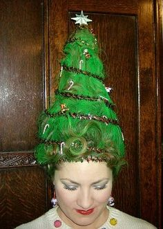 Liz, maybe we can do your hair like this to go with your christmas sweater?  a few more styles to come just in case you do not like this one.  Crazy Christmas Hairstyles for Girls