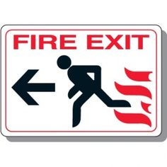 Image result for fire stairs sign printable