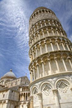 ✮ Leaning tower and Duomo in Campo di Miracoli field of Miracles, Pisa, Tuscany, Italy