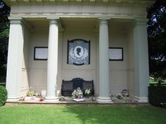 Princess Diana's grave at Althorp House.  The Spencer ancestral home can be visited for tours and is now owned by Princess Diana's brother Charles.  Her grave is on an island in the middle of a pond on the estate.