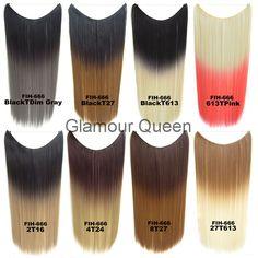 Synthetische Hittebestendigheid Ombre Hair Extensions Secret Miracle Twee Tone Straight Haar Stukken Draad, Geen clip, 50g, 22 inch
