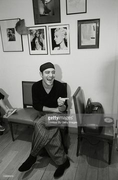 John Galliano British fashion designer for the house of Dior haute couture poses March, 2005 in Paris
