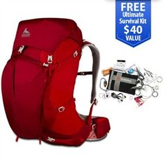 Gregory Z 65 2014 Spark Red - Medium  is a lightweight bagpack that offers a host of technical features designed to improve your comfort.