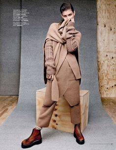 visual optimism; fashion editorials, shows, campaigns & more!: ophelie guillermand by jason kibbler for vogue russia september 2014
