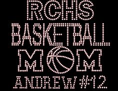Basketball Mom Rhinestone Transfer DIY.. Personalized Option to add TEAM Name & CHILD Name/# Optional Shirt Add On Available sold separately... from www.beadyeyesonline.com #BeadyEyesOnline