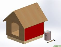 Extra Large Dog House Solid Wood Penthouse Kennels Crates Duplex W Bonus Dog Doors Two Dogs. Large Outdoor Dog Bed Has a Raised Bottom and Natural Insulation. Your Perfect Large Dog Bed Wood Dog House, Build A Dog House, Dog House Plans, Building A House, Modern Courtyard, Courtyard House Plans, Extra Large Dog House, Cardboard Box Houses, Grande Niche