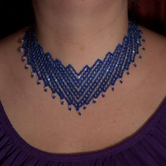 Staircase Necklace Beadwork Pattern/Tutorial. £5.00, via Etsy.