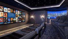 Home Theater Room Design, Movie Theater Rooms, Home Cinema Room, Home Theater Seating, Home Theater Lighting, Soho House, Extravagant Homes, Luxury Homes Dream Houses, 3d Home