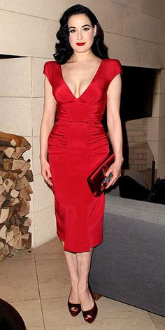 Red Dresses. A tight fitting red dress is just the best thing in the world. no…