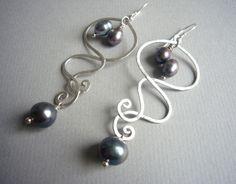 CHANDELIERS Sterling Silber & Süßwasserperlen von felicitas mayer ~ schmuck & accessoires auf DaWanda.com