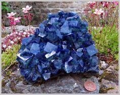 Fluorite from the Rogerley Mine, Weardale, Northern England.