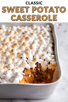 Sweet Potatoes With Marshmallows, Recipes With Marshmallows, Mini Marshmallows, Sweet Potato Casserole With Marshmallows Recipe, Easy Sweet Potato Recipe, Sweet Potato Marshmallow, Sweet Potato Cakes, Sweet Potatoe Casserole Recipes, Sweet Potato Caserole
