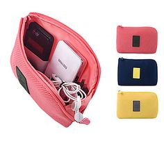 Travel Storage Bag Waterproof Power Cable Organizer Bag 16 x 12.5 x 3cm 4809418 2017 – $5.13