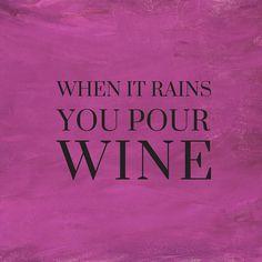 I confess, I'm kinda looking forward to the rain tomorrow night...  ~~ Houston Foodlovers Book Club