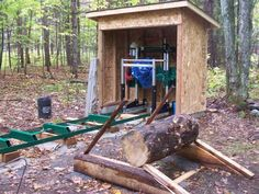 Saw Mill Diy, Portable Bandsaw Mill, Homemade Chainsaw Mill, Building A Pole Barn, Tree Sale, Wood Mill, Barns Sheds, Reclaimed Lumber, Wood Tools