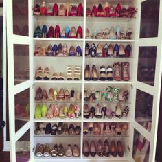 Shoe Daydreams: Making Room #shoes #heels #closet #collection