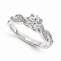 14KW AA Diamond Semi-mount Engagement Ring