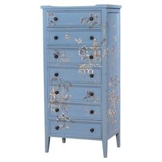 Check out this item at One Kings Lane! Tall Pimlico Dresser, Blue