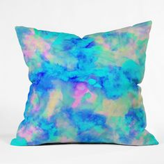 Amy Sia Electrify Ice Blue Throw Pillow | DENY Designs Home Accessories
