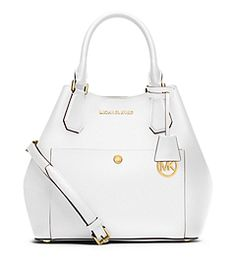 Greenwich Large Saffiano Leather Satchel by Michael Kors