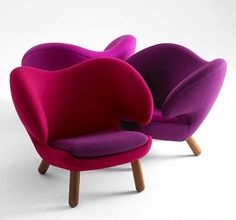 Good Contemporary Chairs With Living Room Chair Modern Chair Design For Indoor Furniture By One Danish Furniture, Cool Furniture, Furniture Design, Purple Furniture, Unusual Furniture, Furniture Chairs, Quality Furniture, Wooden Furniture, Contemporary Chairs